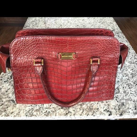 d7bf76653a02 Michael Kors Collection Bags | Michael Kors Gia Crocodile Satchel ...